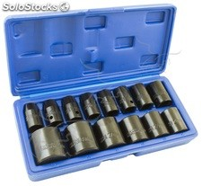 "Vasos de impacto hexagonales 1/2"" 10 a 32 mm"