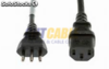 VDE plug Italia power cord para computadora O.D.:6.8mm,(0.07 23pieces) 3C