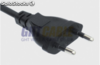 VDE plug power cord redondo O.D.:5.6mm, (0.08 28pieces) 2C""