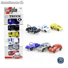 Vehículo truck 7 cm pack 6 coches
