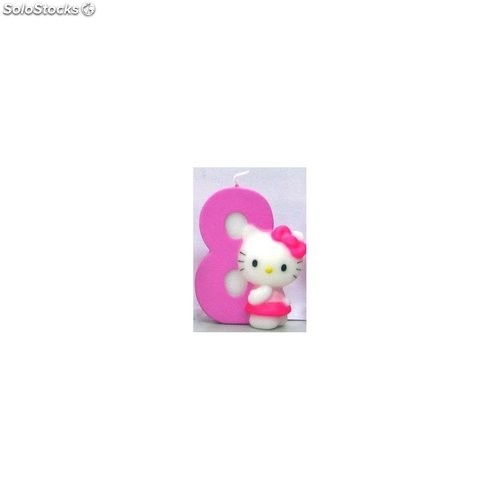 Vela hello kitty nº 8
