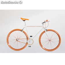 Vélo Fixie 7 Frames Orange