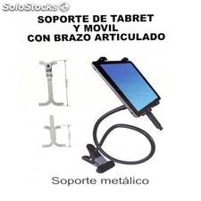 Venta de soporte para movil o tablet flexible de metal con pinza