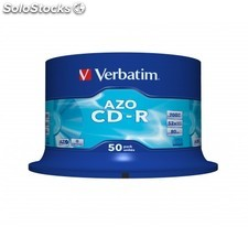 Verbatim - CD-r azo Crystal CD-r 700MB 50pieza(s)