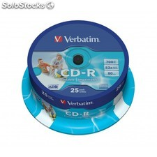 Verbatim - CD-r azo Wide Inkjet Printable CD-r 700MB 25pieza(s)