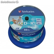 Verbatim - CD-r azo Wide Inkjet Printable no id CD-r 700MB 50pieza(s)