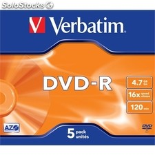 Verbatim DVD-r 4.7GB 16X pack 5 advanced azo