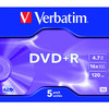 Verbatim dvd+r advanced azo pack 5 16x 4.7gb 43497