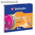 Verbatim DVD-r colour, DVD-r, caja de CD