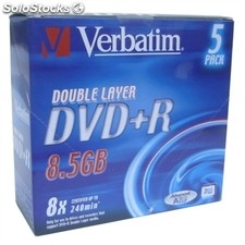 Verbatim DVD+r dl 8.5GB 8x Pack 5Uds+lpi