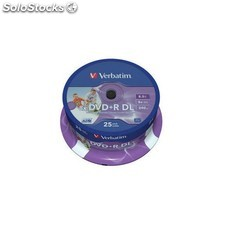 Verbatim - DVD+r Double Layer Inkjet Printable 8x 8.5GB DVD+r dl 25pieza(s)