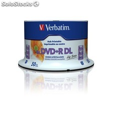Verbatim - DVD+R Double Layer Inkjet Printable 8x Life Series 8.5GB DVD+R DL