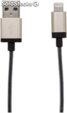 Verbatim Lightning cable Sync & Charge 120cm dorado