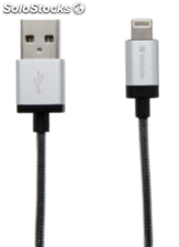 Verbatim Lightning Cable Sync & Charge 30cm silber