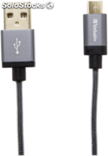 Verbatim Micro USB cable Sync & Charge 120cm gris