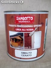 Vernice smalto marrone cerato all'acqua per interni ed esterni da lt 0,75