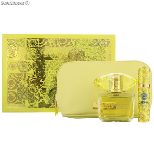 2018 Piezas Eau Set De Spray Diamond Toilette 3 Versace Yellow 90ml kuPwXiTZOl