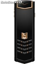 VERTU Signature 18ct red gold and stainless steel dlc mobile phone