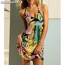 Vestido playa Hawaiiano SC40438
