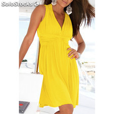 Vestido playero amarillo - low cost - 8436550132687 - B798