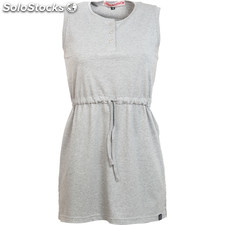 Vestido santa barbara beach light grey melange - light grey melange - the indian