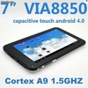 "Via 8850 Cortex-a9 1.2GHz tablet pc Android4.0 de 7"" de pantalla capacitiva"