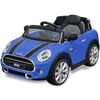 vidaXL Carro ride-on Mini Cooper S azul