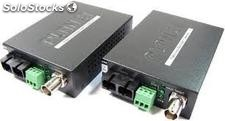 Video over Fiber(SC) converter, a pair include Tx & Rx in package