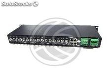 Video Transceiver for tb Rack19 RJ45 16-port bnc (SI40)