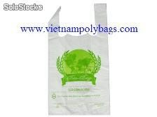 Vietnam packaging shopping platic poly t-shirt bags