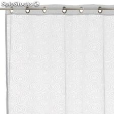 Visillo airwaves poliester blanco 140x260cm