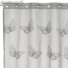 Visillo bordado Fly Fresh gris 140x260cm