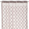 Visillo bordado Laberynth beige 140x260cm