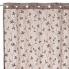 Visillo bordado New Spring beige 140x260cm