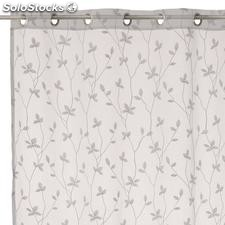 Visillo bordado New Spring blanco 140x260cm