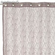 Visillo bordado Nice Leaves beige 140x260cm