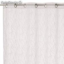 Visillo bordado Nice Leaves blanco 140x260cm