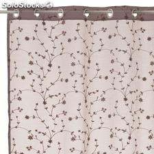 Visillo bordado Spring Tree beige 140x260cm