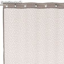 Visillo burn out leaves poliester beige 140x260cm