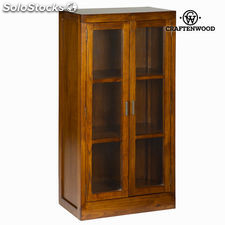Vitrina madera 2 puertas - colección serious line by craftenwood