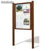 Vitrine simple EVO100 peinte Format 27XA4 H 150 X L 200 mm