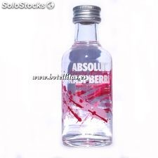 Vodka Absolut Raspberri 5cl. Envase de cristal