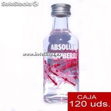 Vodka Absolut Raspberry 5cl caja de 120 uds