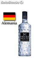 Vodka Three Sixty High Glass 70 cl