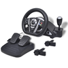 Volante de carreras gaming para PS2/PS3/PC Negro
