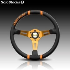 Volante momo drifting blk/orange 350