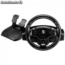 Volante thrustmaster t80 racing wheel - 2 pedales con reposapies - 2 levas +