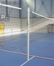 Volley - Poteau central aluminium scolaire