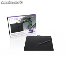 Wacom - intuos 3D black pt m south 2540líneas por pulgada 216 x 135mm usb Negro