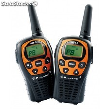 Walkies PMR446 M48-S Pareja 2 uds Midland ideal para camping, naves industriales